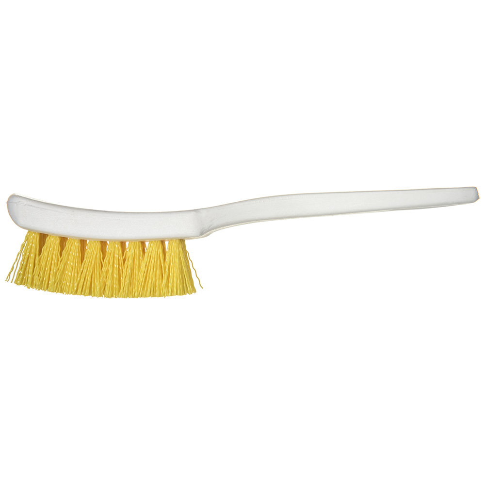 "Carlisle 4139504 7.25"" Multi Purpose Hand Brush w/ Polyester Bristles, Yellow"