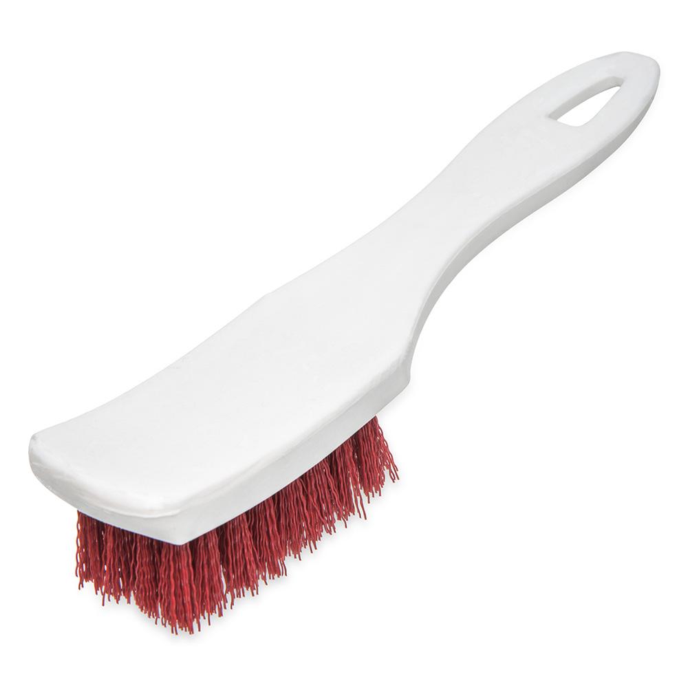 "Carlisle 4139505 7.25"" Multi Purpose Hand Brush w/ Polyester Bristles, Red"