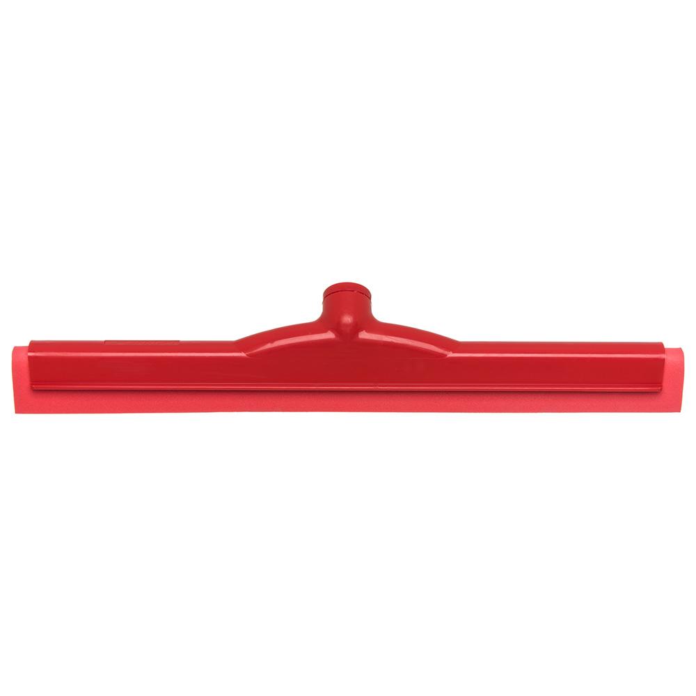 """Carlisle 4156705 18"""" Floor Squeegee Head w/ Double Foam Rubber Blade, Red"""