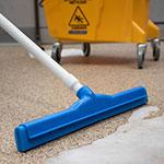 """Carlisle 4156714 18"""" Floor Squeegee Head w/ Double Foam Rubber Blade, Blue"""