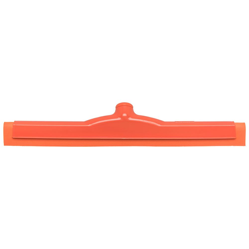 """Carlisle 4156724 18"""" Floor Squeegee Head w/ Double Foam Rubber Blade, Orange"""