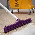 """Carlisle 4156768 18"""" Floor Squeegee Head w/ Double Foam Rubber Blade, Purple"""