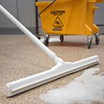 """Carlisle 4156802 24"""" Floor Squeegee Head w/ Double Foam Rubber Blade, White"""
