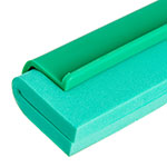 "Carlisle 4156809 24"" Floor Squeegee Head w/ Double Foam Rubber Blade, Green"