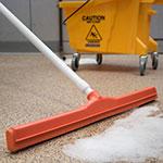 """Carlisle 4156824 24"""" Floor Squeegee Head w/ Double Foam Rubber Blade, Orange"""
