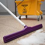 """Carlisle 4156868 24"""" Floor Squeegee Head w/ Double Foam Rubber Blade, Purple"""