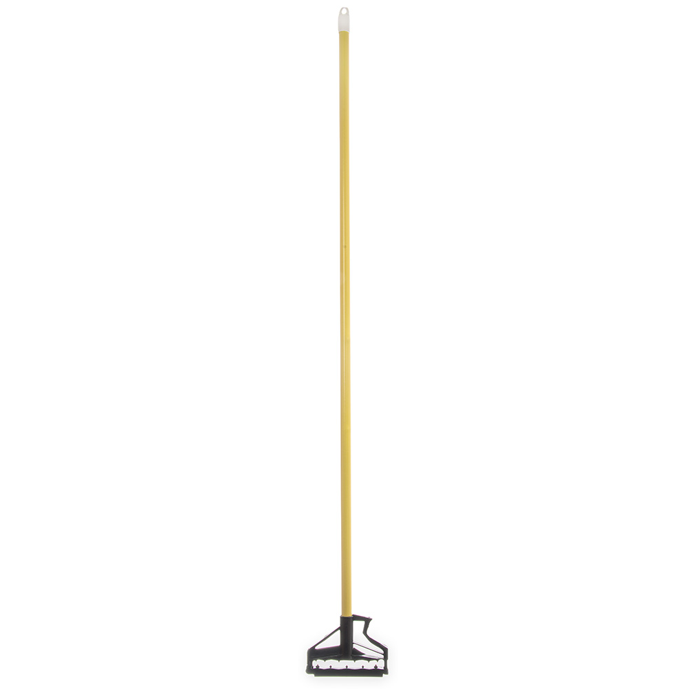 "Carlisle 4166404 60"" Mop Handle - Flexible Plastic Head, Fiberglass, Yellow"