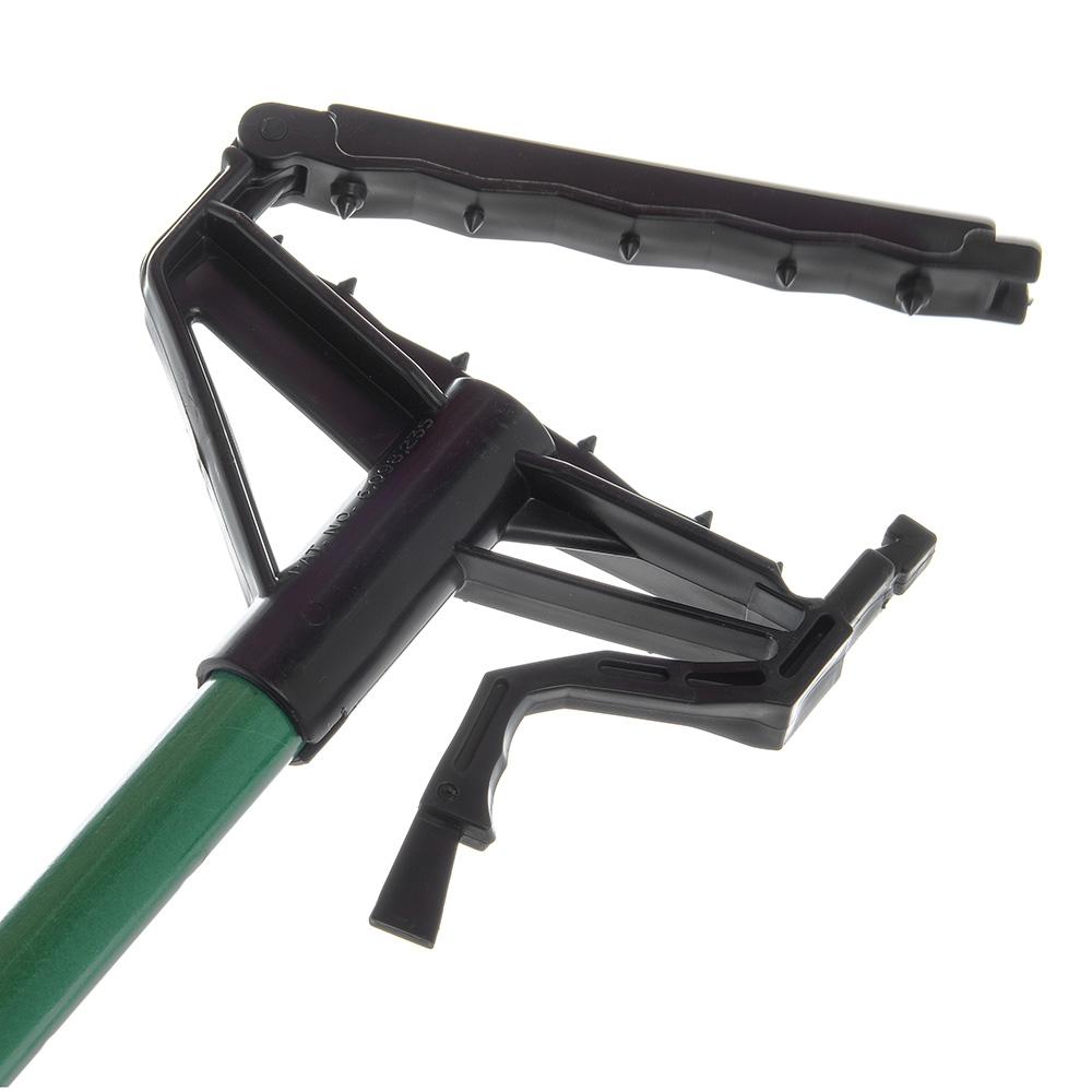 "Carlisle 4166409 60"" Quik-Release™ Mop Handle w/ Plastic Head, Fiberglass, Green"