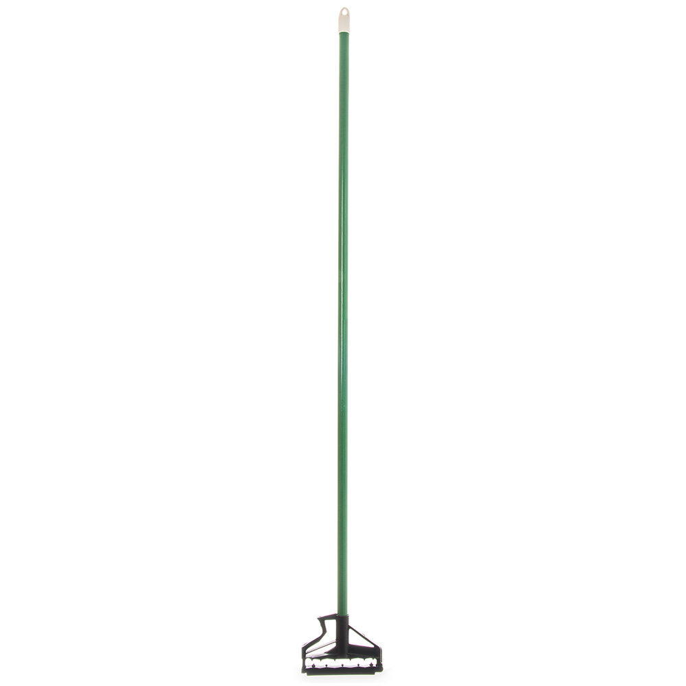 "Carlisle 4166409 60"" Mop Handle - Flexible Plastic Head, Fiberglass, Green"
