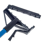 "Carlisle 4166414 60"" Quik-Release™ Mop Handle w/ Plastic Head, Fiberglass, Blue"