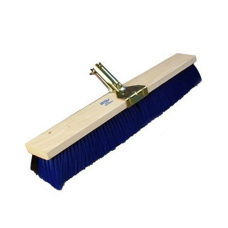"Carlisle 4187000 18"" Sweep Floor - Wood Block, Fine/Medium Synthetic Bristles"