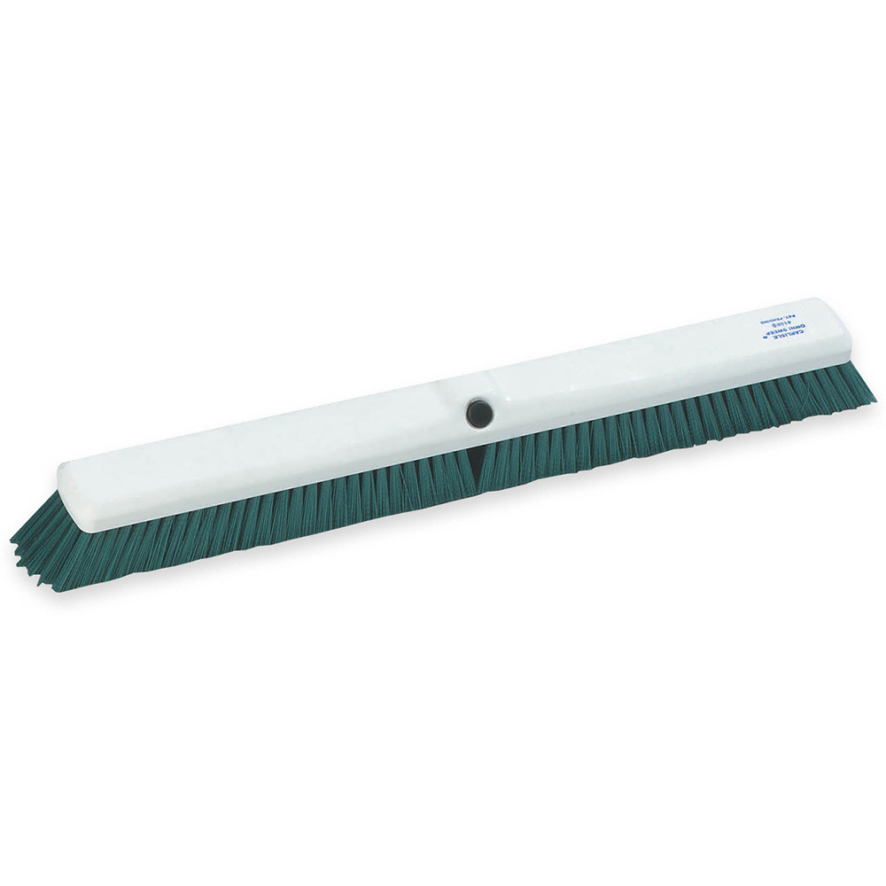 "Carlisle 4189009 18"" Push Broom Head w/ Synthetic Bristles, Green"