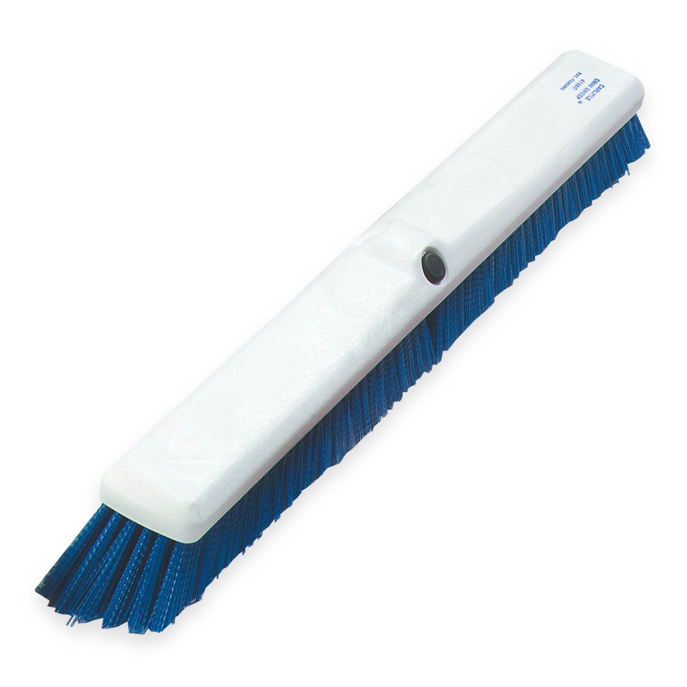 "Carlisle 4189014 18"" Sweep Push Broom - Blue"