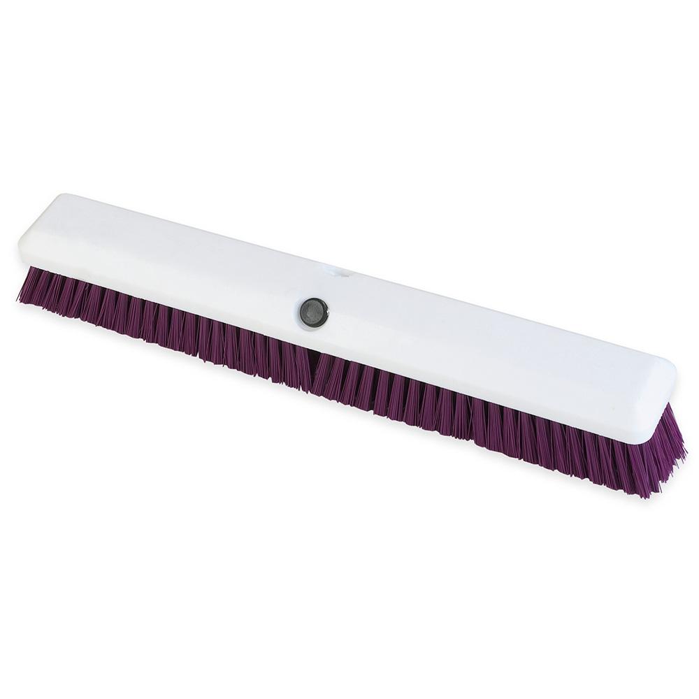 "Carlisle 4189068 18"" Push Broom Head w/ Synthetic Bristles, Purple"