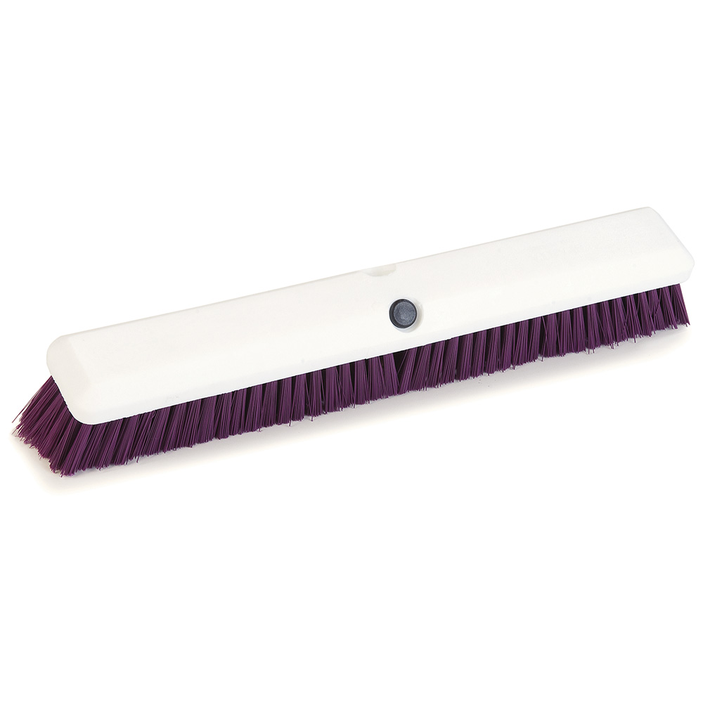 "Carlisle 4189068 18"" Push Broom Head w/ Synthetic Bristles, Purple"