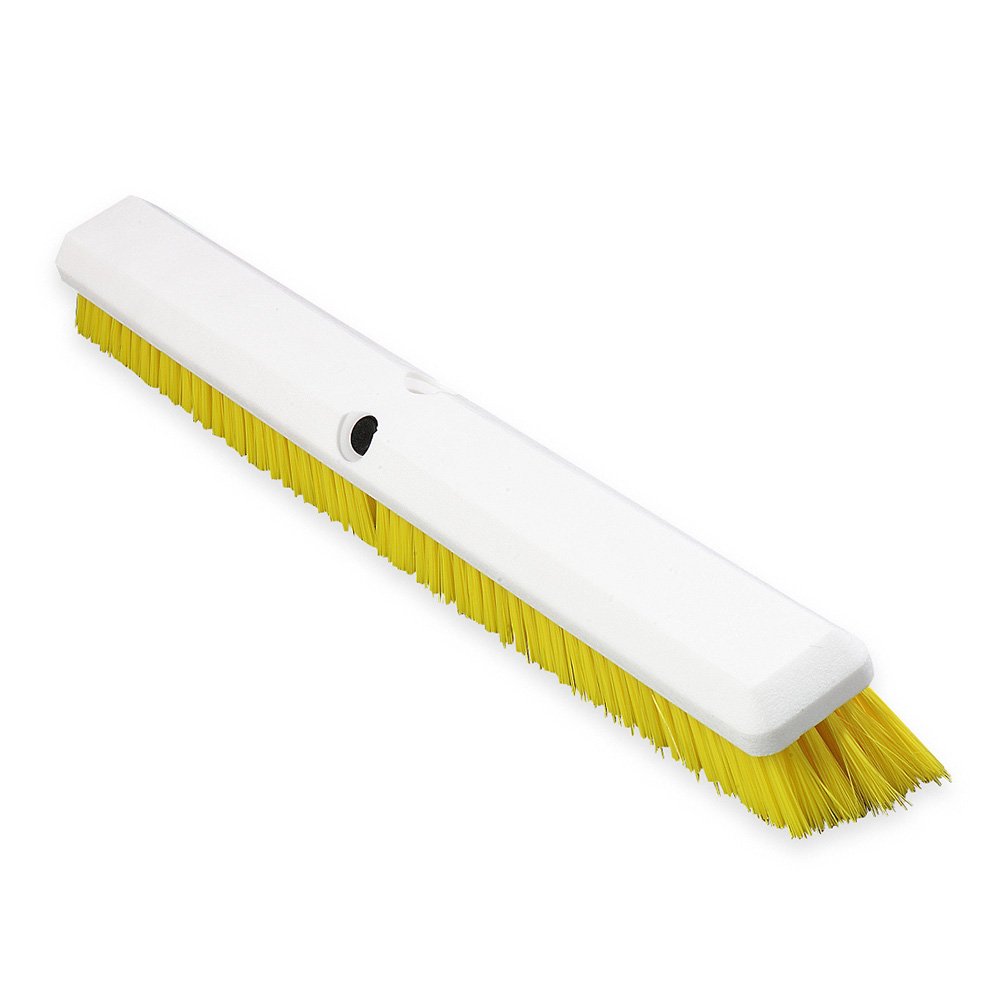 "Carlisle 4189104 24"" Push Broom Head w/ Synthetic Bristles, Yellow"