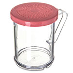 Carlisle 425055 9-oz Shaker Dredge - 7-Style Handle, Rose/Clear