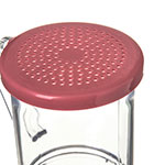 Carlisle 425055 9-oz Shaker Dredge - 7-Style Handle, Rose/Clear