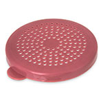 "Carlisle 425155 3-1/8"" Shaker Dredge Lid - Medium Ground, Rose"