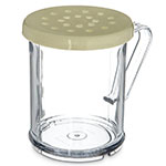 Carlisle 426004 Shaker Dredge, Cheese Lid, Poly w/ Handle, Clear, Yellow Lid