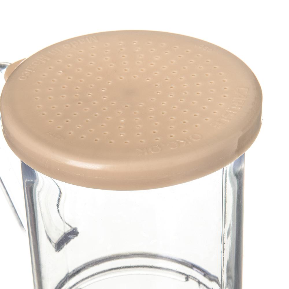 Carlisle 427006 9-oz Shaker Dredge - 7-Style Handle, Beige/Clear