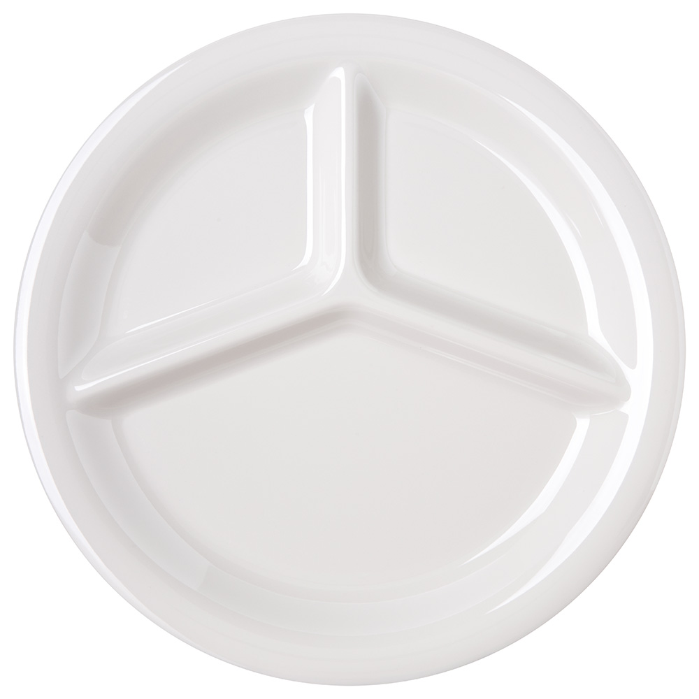 Carlisle 4300042 10.5-in 3-compartment Plate Bone Restaurant Supply