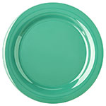 "Carlisle 4300209 10.5"" Round Dinner Plate w/ Narrow Rim, Melamine, Meadow Green"