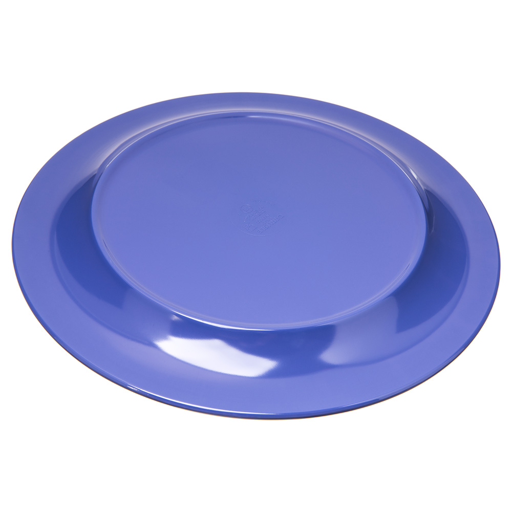 "Carlisle 4300214 10.5"" Round Dinner Plate w/ Narrow Rim, Melamine, Ocean Blue"