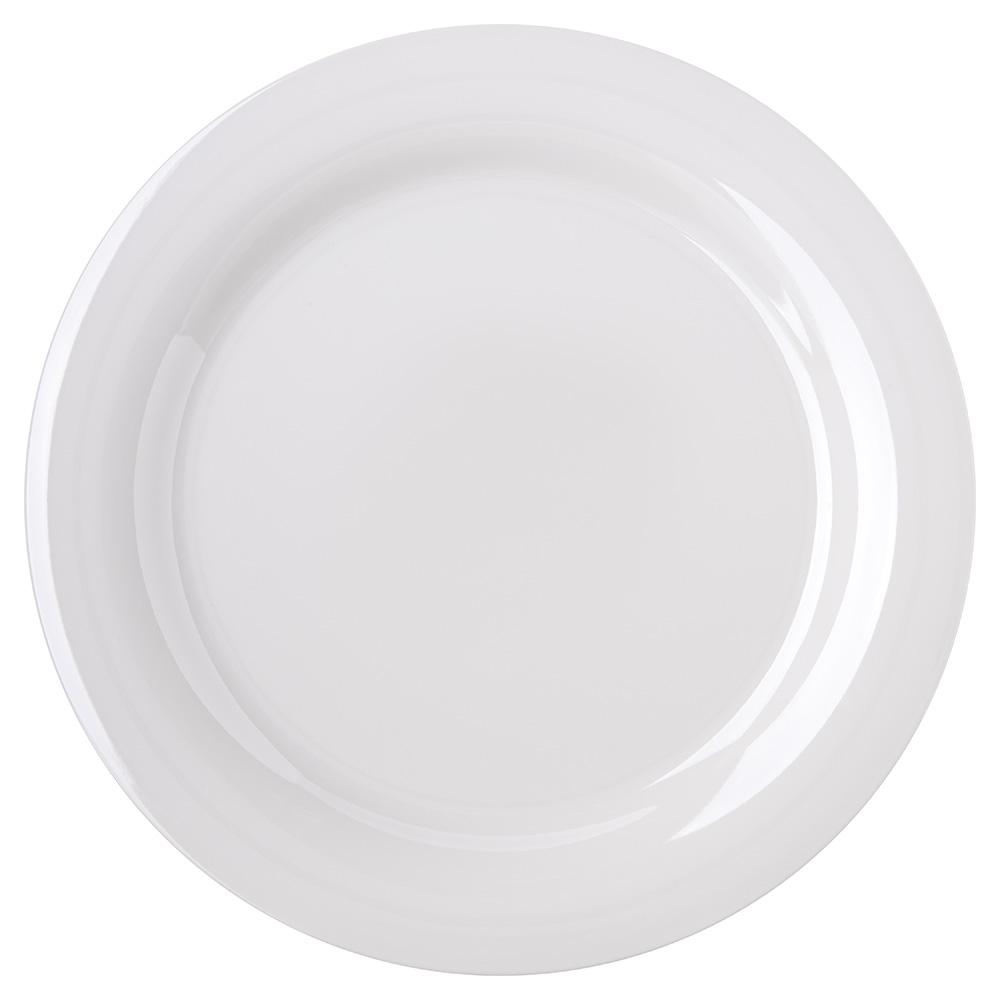 """Carlisle 4300242 10-1/2"""" Durus Dinner Plate - Narrow Rim, Melamine, Bone"""