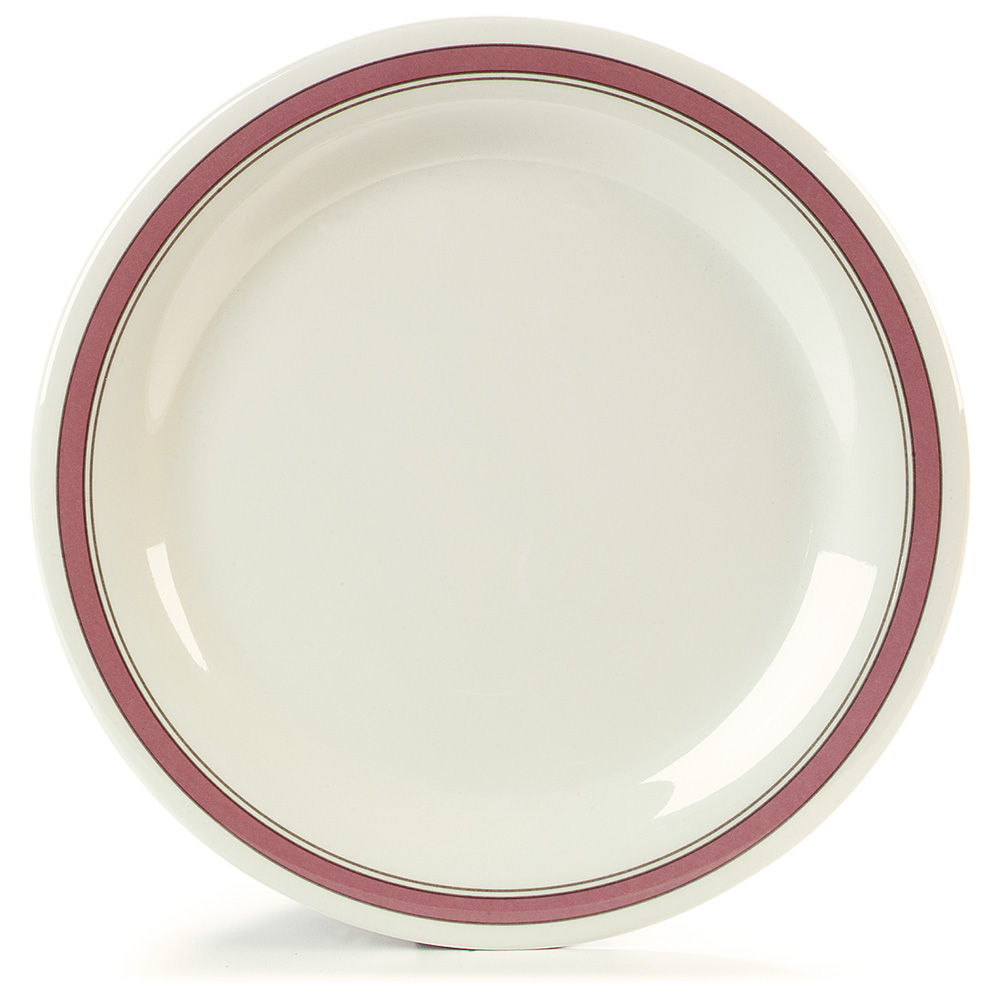 "Carlisle 43003906 10-1/2"" Durus Dinner Plate - Narrow Rim, Melamine, Parisian on Bone"