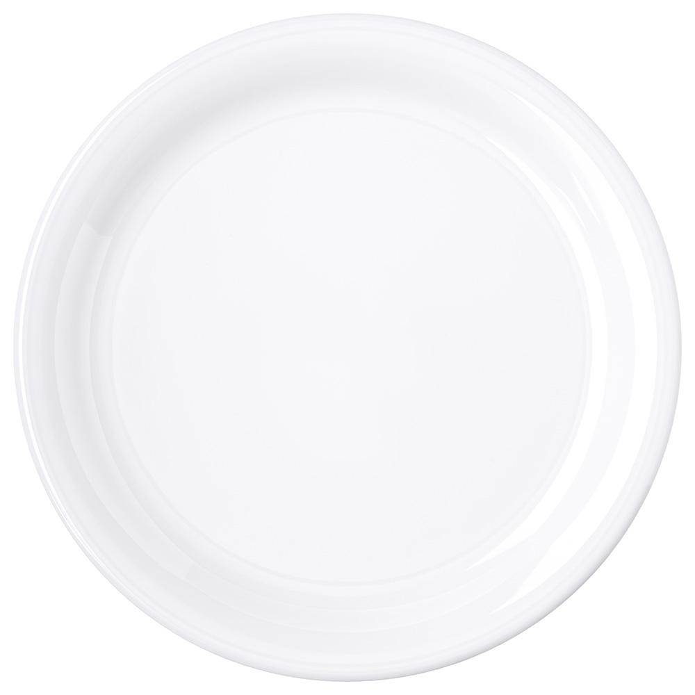 "Carlisle 4300402 9"" Durus Dinner Plate - Narrow Rim, Melamine, White"