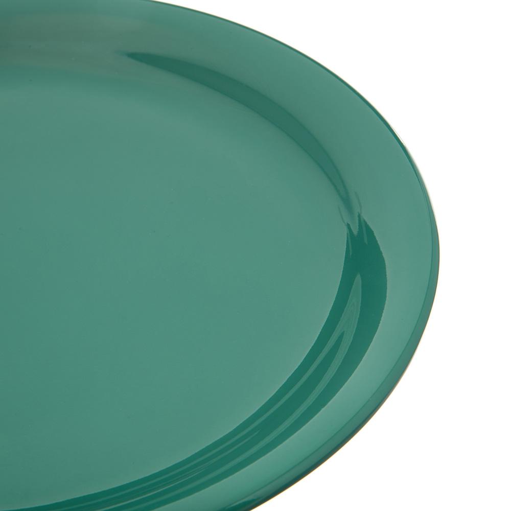 "Carlisle 4300409 9"" Round Dinner Plate w/ Narrow Rim, Melamine, Meadow Green"
