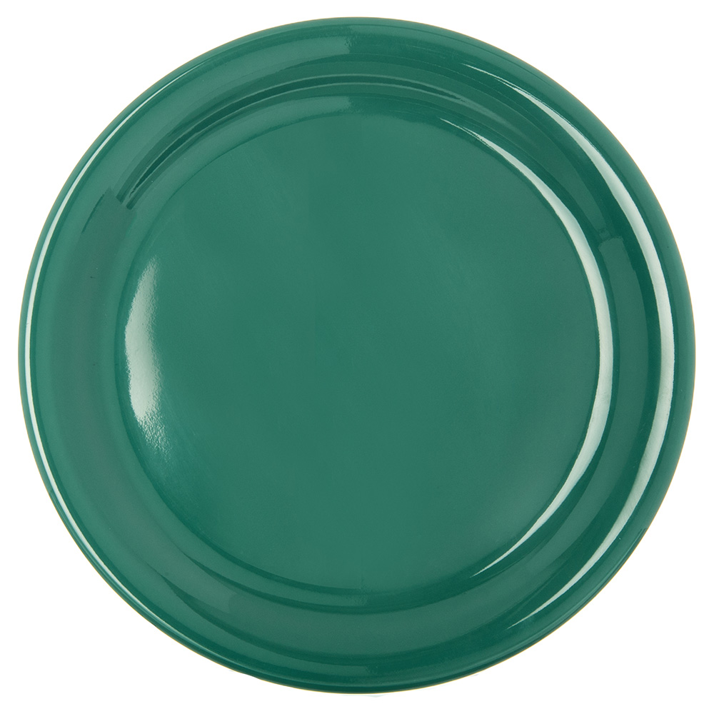 "Carlisle 4300409 9"" Durus Dinner Plate - Narrow Rim, Melamine, Meadow Green"