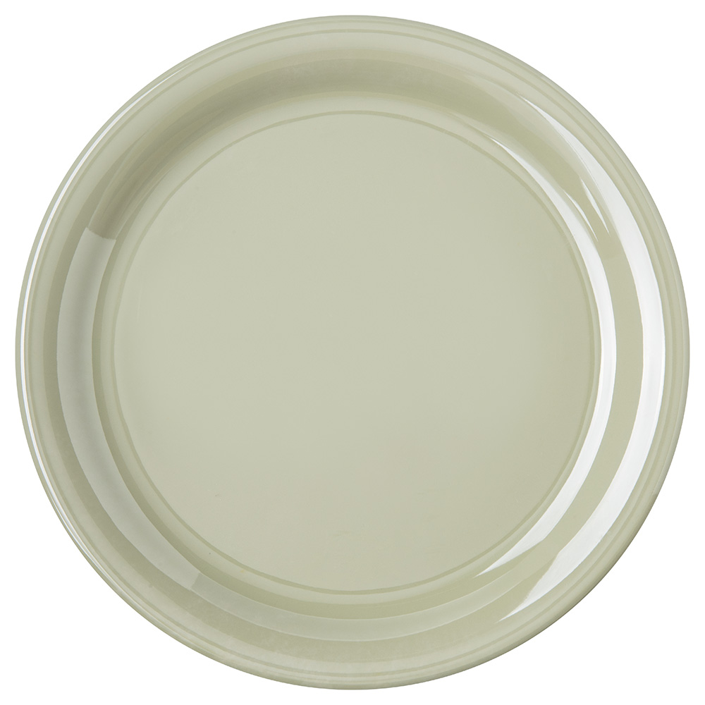 "Carlisle 4300416 9"" Durus Dinner Plate - Narrow Rim, Melamine, Firenze Green"