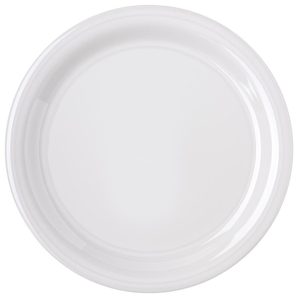 "Carlisle 4300442 9"" Round Dinner Plate w/ Narrow Rim, Melamine, Bone"