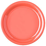 "Carlisle 4300452 9"" Durus Dinner Plate - Narrow Rim, Melamine, Sunset Orange"