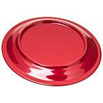 "Carlisle 4300458 9"" Round Dinner Plate w/ Narrow Rim, Melamine, Roma Red"