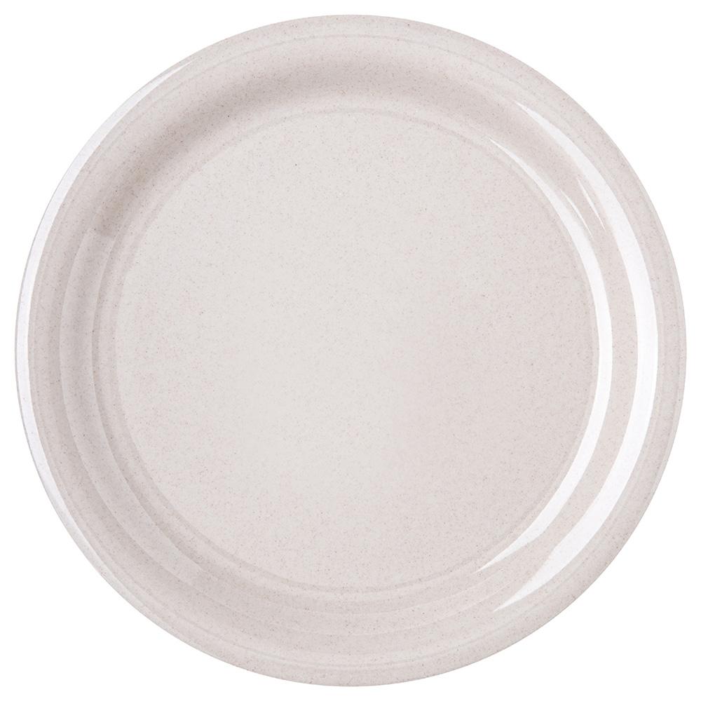 "Carlisle 4300471 9"" Round Dinner Plate w/ Narrow Rim, Melamine, Sand"