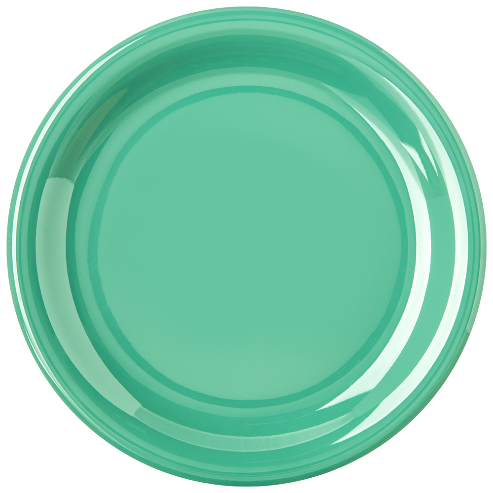 "Carlisle 4300609 7-1/4"" Durus Salad Plate - Narrow Rim, Melamine, Meadow Green"