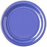 "Carlisle 4300614 7-1/4"" Durus Salad Plate - Narrow Rim, Melamine, Ocean Blue"