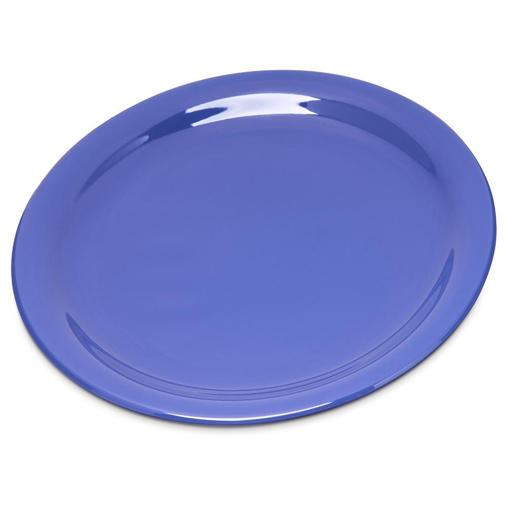 "Carlisle 4300614 7.25"" Round Dinner Plate w/ Narrow Rim, Melamine, Ocean Blue"