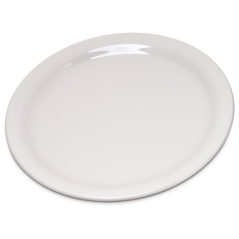 "Carlisle 4300642 7.25"" Round Dinner Plate w/ Narrow Rim, Melamine, Bone"