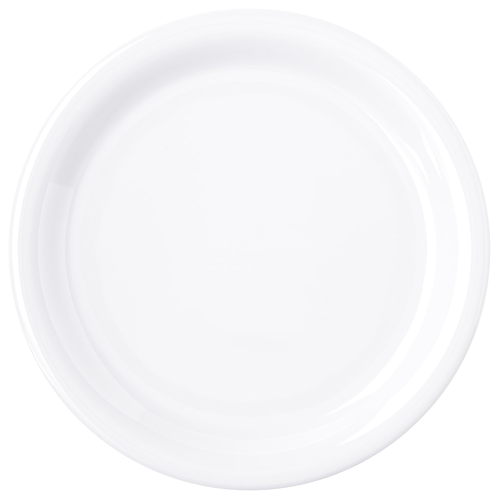 "Carlisle 4300802 6-1/2"" Durus Pie Plate - Narrow Rim, Melamine, White"