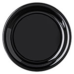 "Carlisle 4300803 6-1/2"" Durus Pie Plate - Narrow Rim, Melamine, Black"