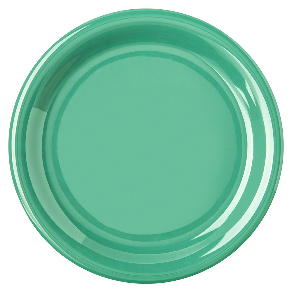 "Carlisle 4300809 6.5"" Round Pie Plate w/ Narrow Rim, Melamine, Meadow Green"