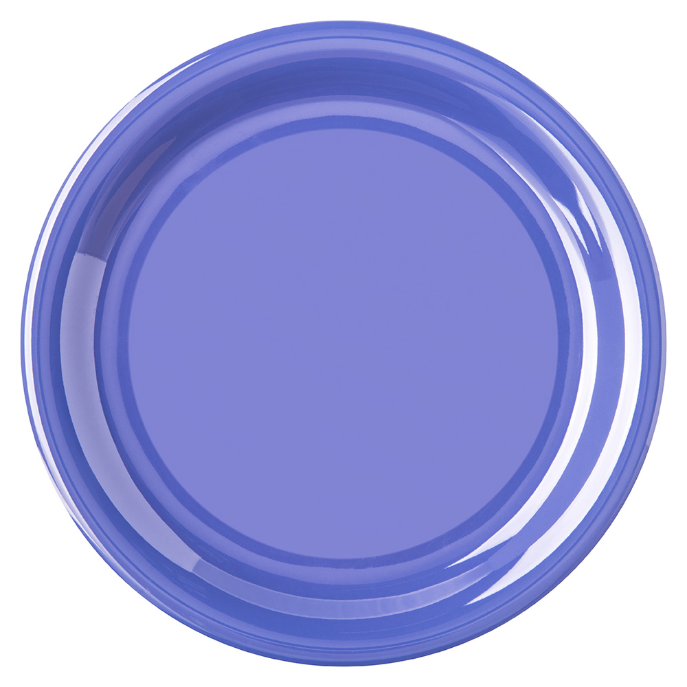 "Carlisle 4300814 6-1/2"" Durus Pie Plate - Narrow Rim, Melamine, Ocean Blue"
