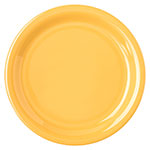"Carlisle 4300822 6.5"" Round Pie Plate w/ Narrow Rim, Melamine, Honey Yellow"
