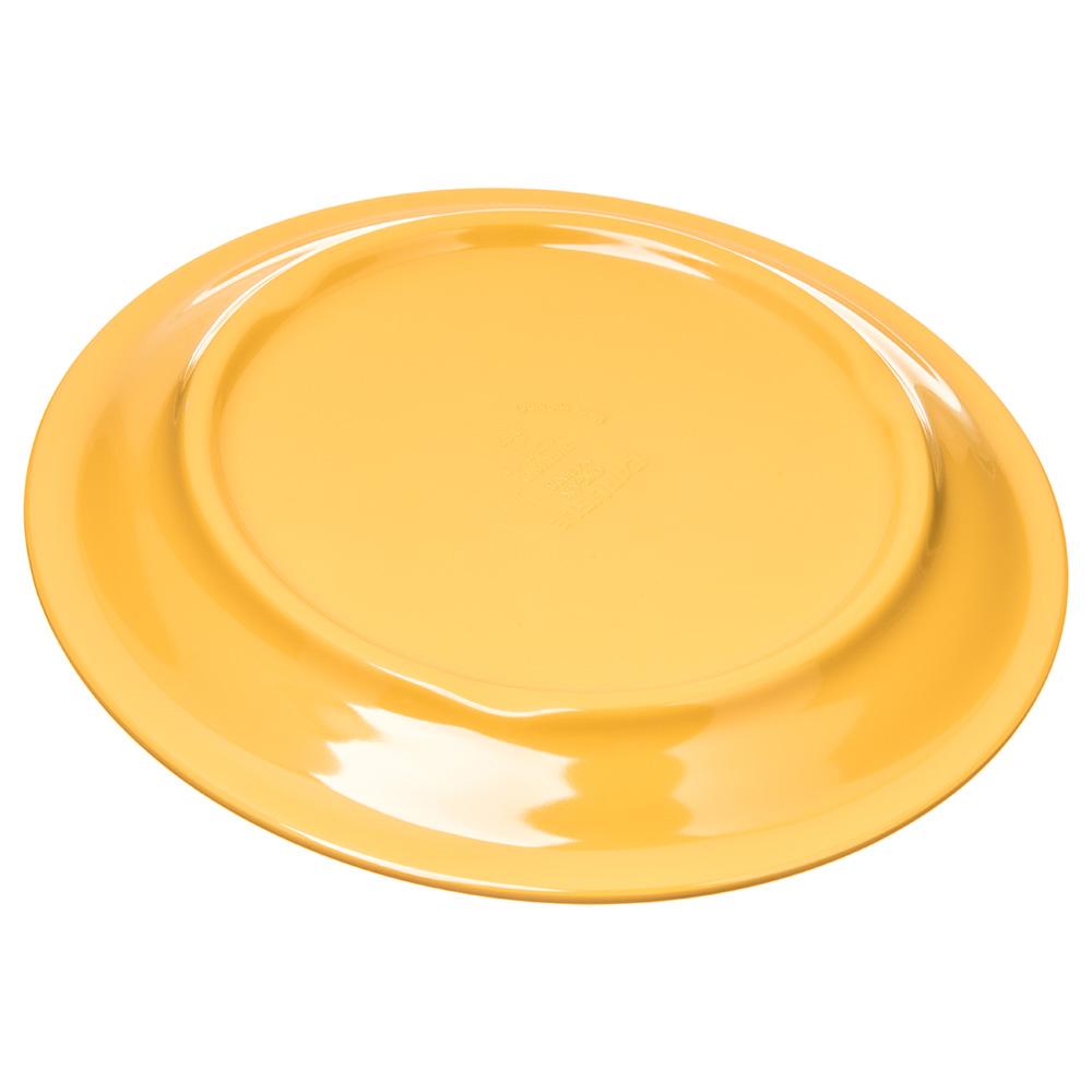 "Carlisle 4300822 6.5"" Round Pie Plate w/ Narrow Rim, Melamine, Honey Yellow"