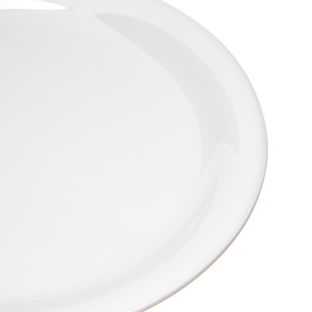 "Carlisle 4300842 6.5"" Round Pie Plate w/ Narrow Rim, Melamine, Bone"