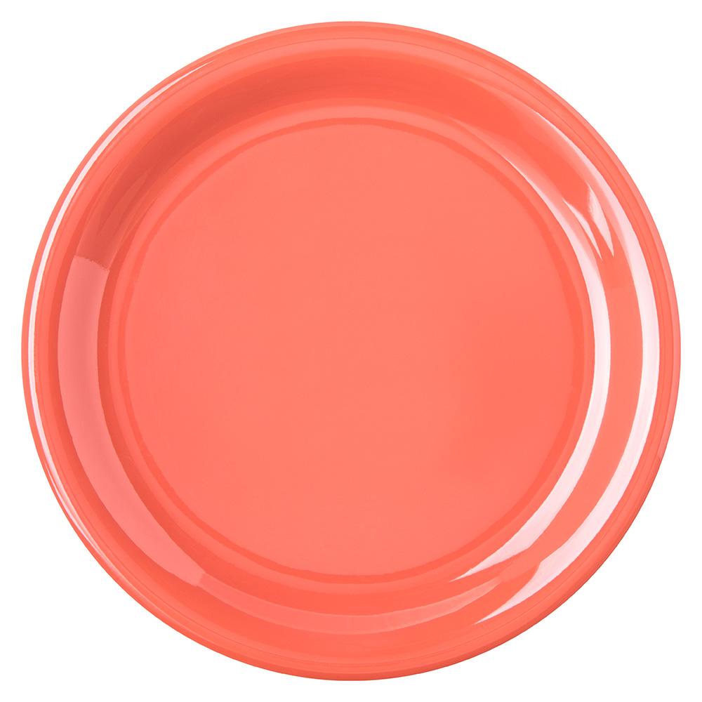 "Carlisle 4300852 6-1/2"" Durus Pie Plate - Narrow Rim, Melamine, Sunset Orange"